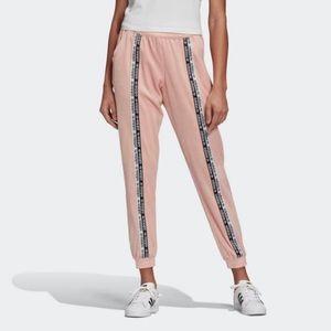 Adidas Velour Pink Cuffed Pants